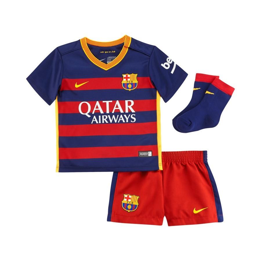 cd3beda908ebe Conjunto Nike Bebe FC Barcelona Primera Equipación 2015-2016 Niño Loyal  blue-Stormred-University gold - Tienda de fútbol Fútbol Emotion