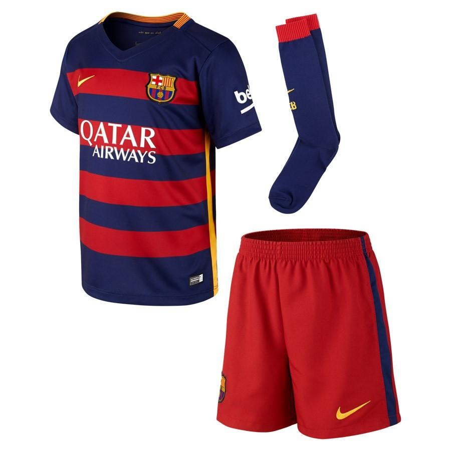 6ee6c812221ec Conjunto Nike FC Barcelona Primera Equipación 2015-2016 Niño Loyal  blue-Stormred-University gold - Tienda de fútbol Fútbol Emotion