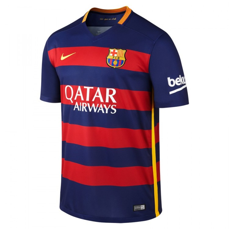 promo code a358f 318f7 Camiseta FC Barcelona Primera Equipación 2015-2016 Loyal  blue-Stormred-University gold