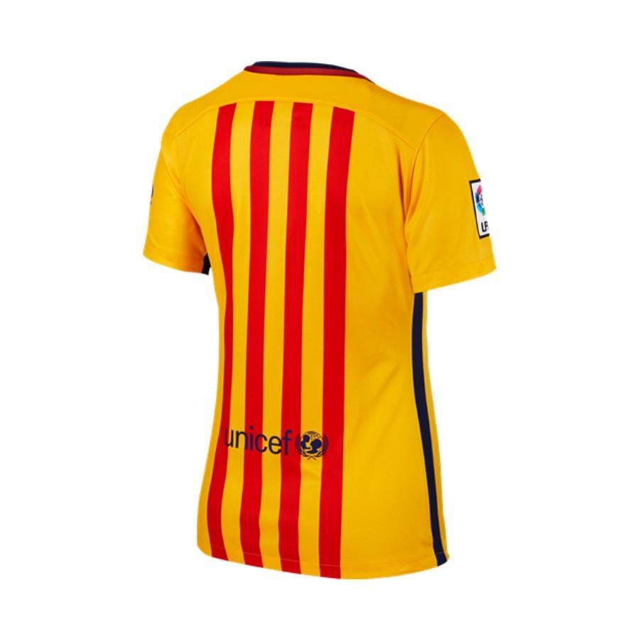 ... Barcelona Segunda Equipación Mujer 2015-2016 University gold-Loyal  blue. Categorías de la Camiseta 96167a748c6