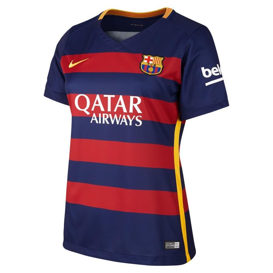4bf3af6eace1a Camiseta Nike FC Barcelona Primera Equipación Mujer 2015-2016 Loyal  blue-Sotrmred-University gold - Tienda de fútbol Fútbol Emotion