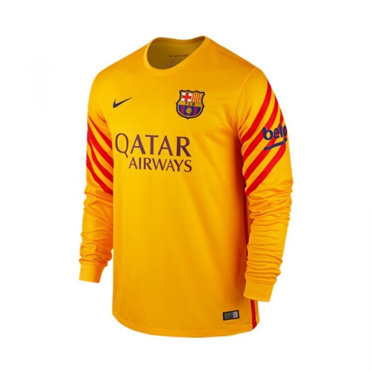 Playera Nike FC Barcelona Portero 2015-2016 Niño University gold ... a8e9b5f36d2