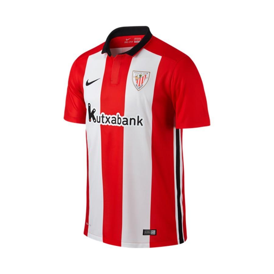 84cc44ea126c6 Jersey Nike AC Bilbao Home 2015-2016 University red-White-Black ...