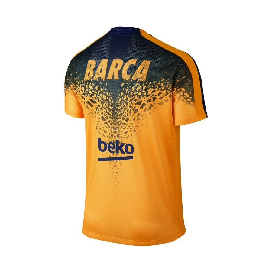 720fc1042053f Jersey Nike Jr FC Barcelona Pre-Match Training 2015-2016 University  gold-Loyal blue - Football store Fútbol Emotion
