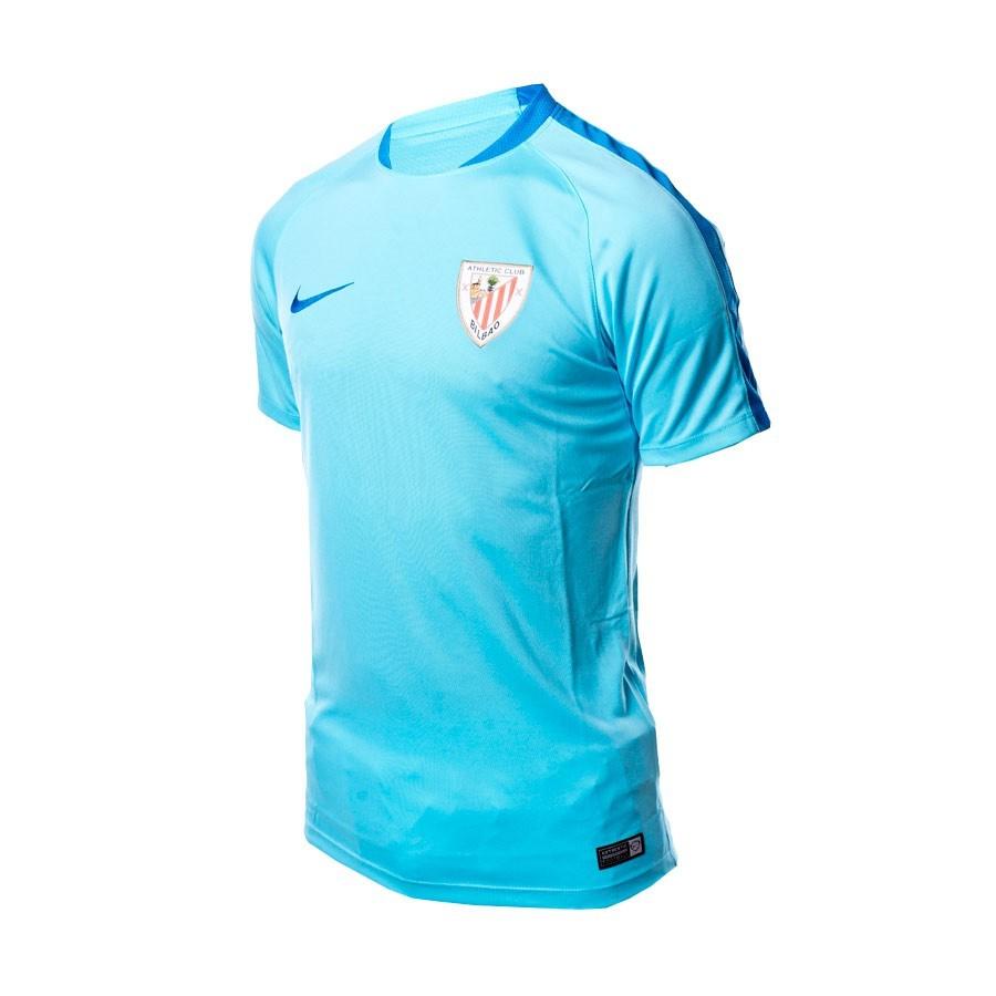 Jersey Nike AC Bilbao Flash Training TOP 2015-2016 Pool blue-Photo ... bfce85621