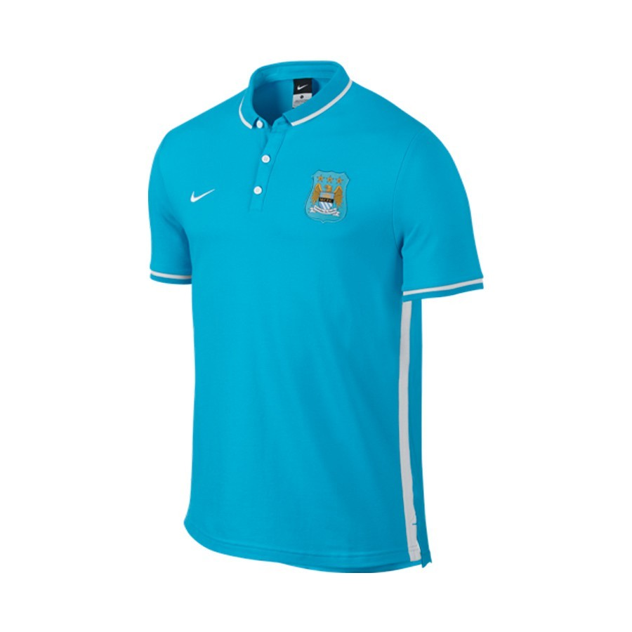 4d45c04db8788 Polo Nike Manchester City FC League Authentic 2015-2016 Chlorine blue-White  - Tienda de fútbol Fútbol Emotion