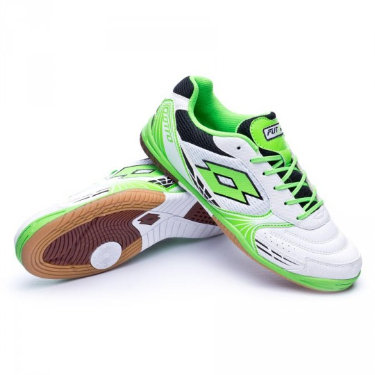 Sapatilha de Futsal  Lotto Tacto 500 ID White-Mint Fluor