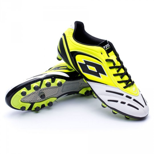 Chuteira  Lotto Stadio Potenza VI 200 Yellow safety-White