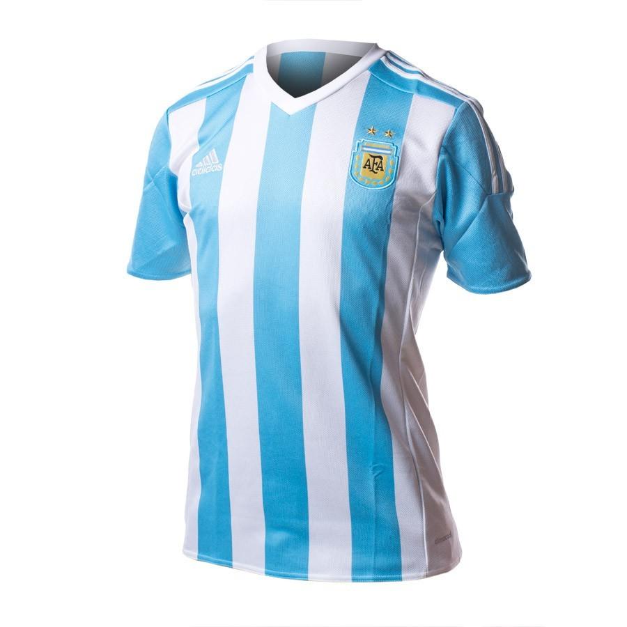 Jersey adidas Jr Seleccion Argentina Home 2015-16 White-Zenith blue ... 1121b22145df