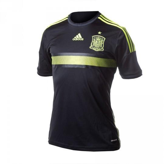 Camiseta  adidas Jr Seleccion Española Away 2015-16 Black-Solar yellow