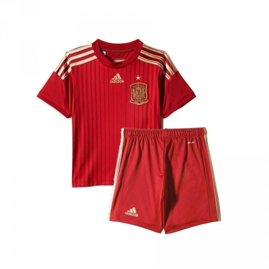 Conjunto  adidas Jr Seleccion Española Principal 2015-16 Victory red-Light football gold