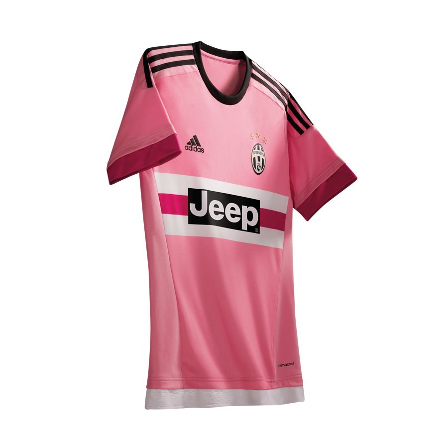 Jersey adidas Juventus Away 2015-16 Bright pink - Soloporteros es ... 86e0999d5