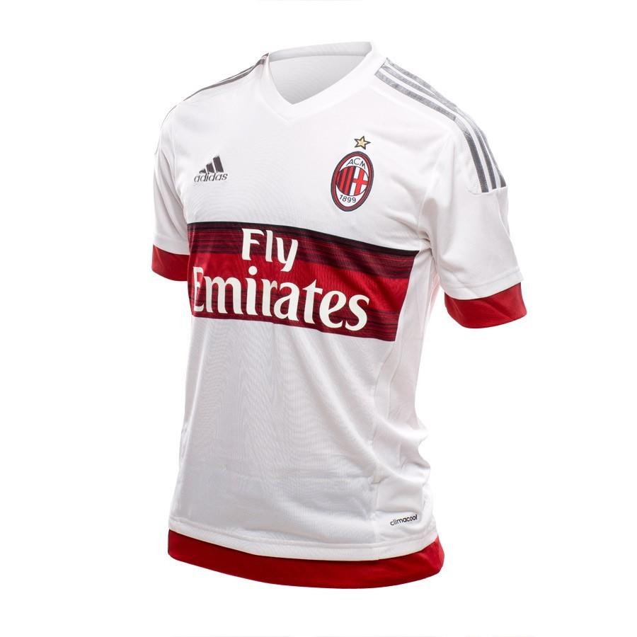 Camiseta adidas AC Milan Segunda Equipación 2015-16 White - Soloporteros es  ahora Fútbol Emotion 1439d6416f67d