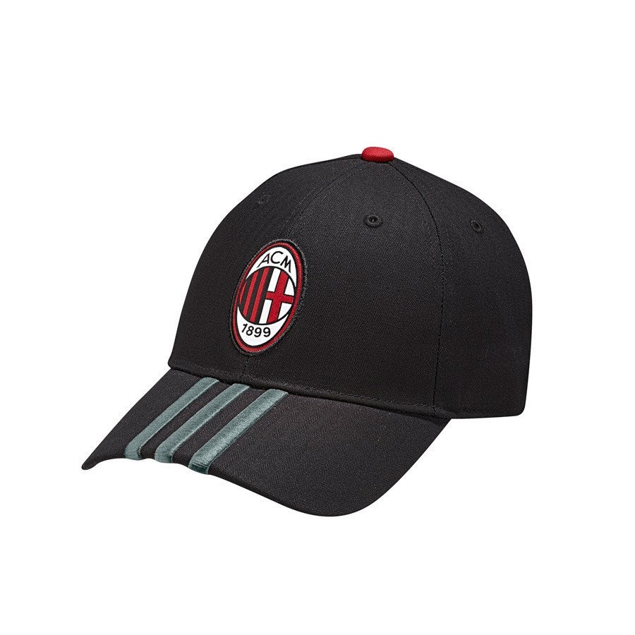14ab57b5359 Cap adidas AC Milan 2015-16 Black-Victory red - Football store ...