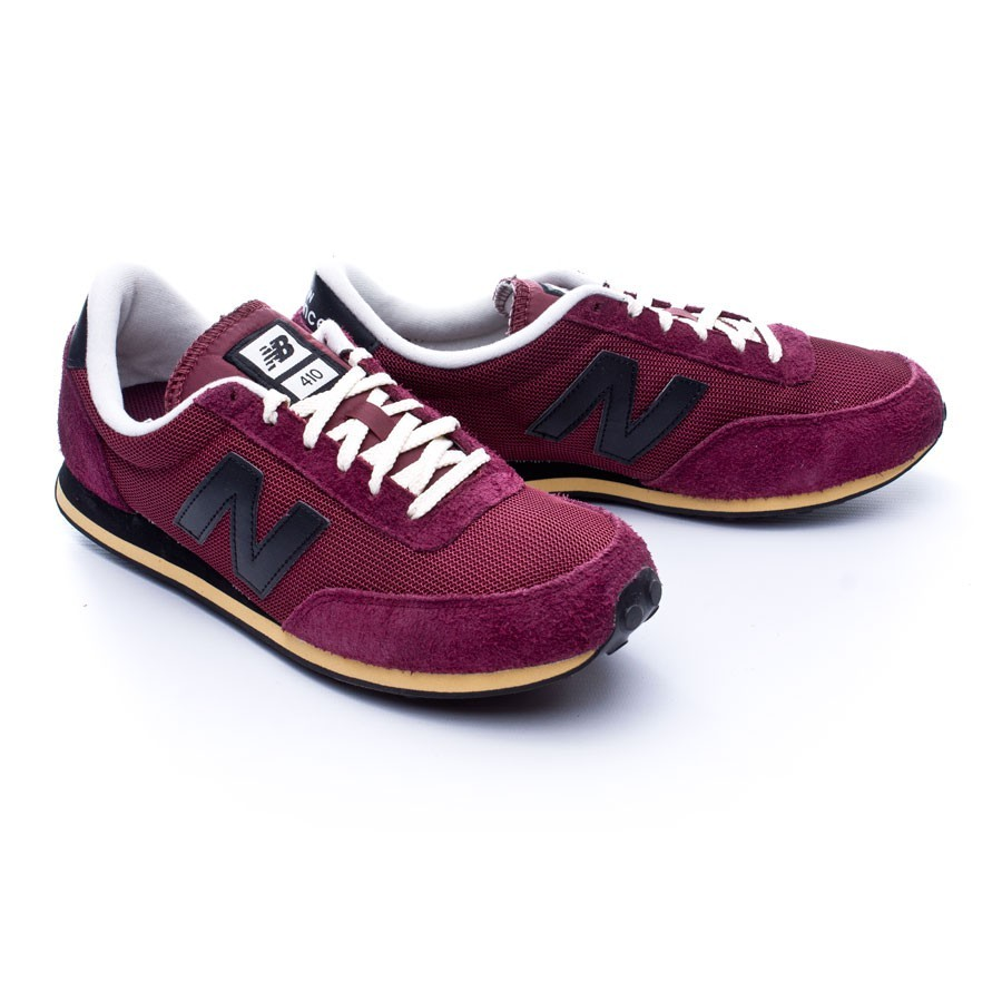 new balance u410 shoesburgundyblack