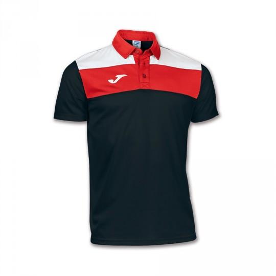 Polo  Joma Crew Negro-Blanco-rojo