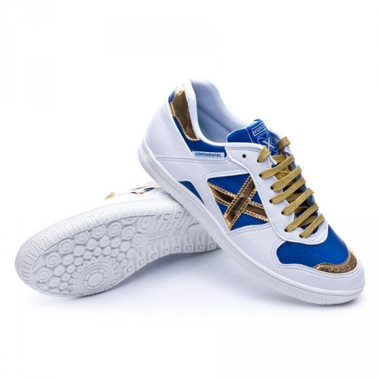 Chaussure de futsal  Munich Continental Exclusive Sergio Lozano White-Gold