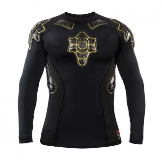 Camiseta  G-Form Pro-X Long Sleeve Compression Shirt Black-Amarillo