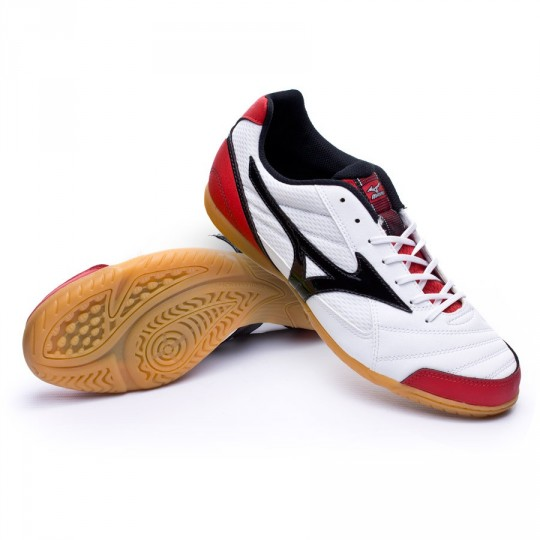Sapatilha de Futsal  Mizuno Sala Club 2 IN White-Black-Red