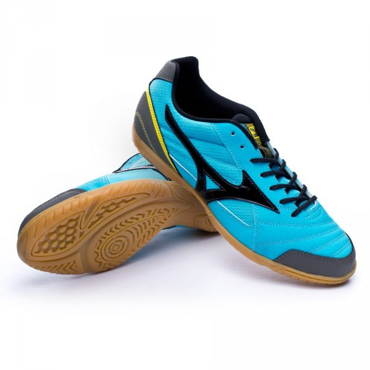 Sapatilha de Futsal  Mizuno Sala Club 2 IN Light blue-Black