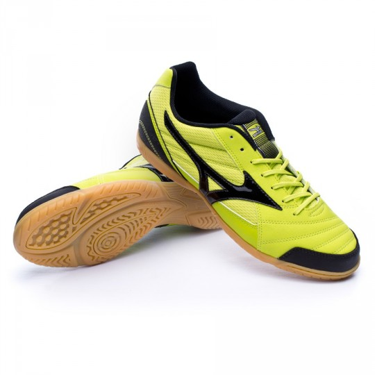 Chaussure de futsal  Mizuno Sala Club 2 IN Lime-Black