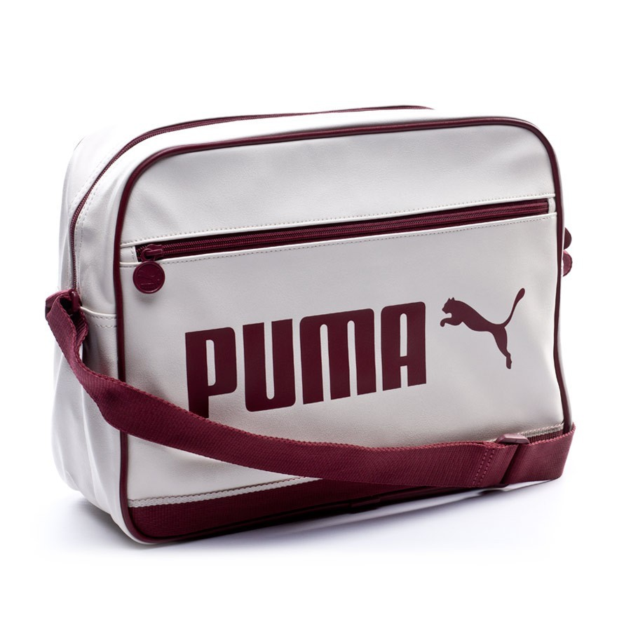 Bag Puma Campus Reporter Whisper white-Cabernet - Football store ... fdd35abc4544e