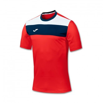 Jersey  Joma Crew SS Red-White-Navy blue