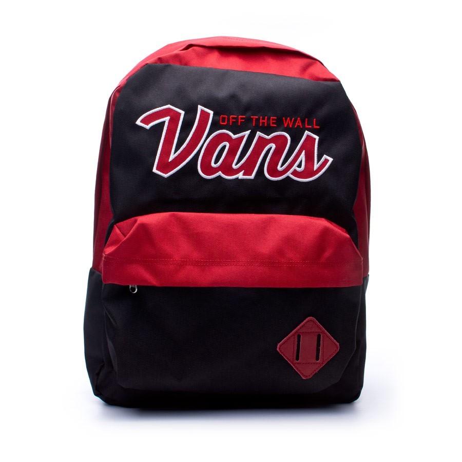 Backpack Vans Old Skool II Jester red-Black - Football store Fútbol ... 304a56f262a