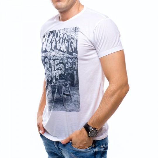 Camiseta  US360º Futbolin Retro Blanca