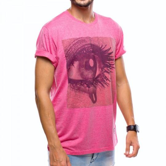 Camiseta  US360º Ojo Gol Iniesta Fucsia