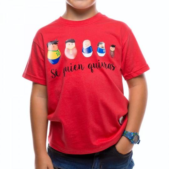 Camiseta  US360º Matrioska Niño Roja
