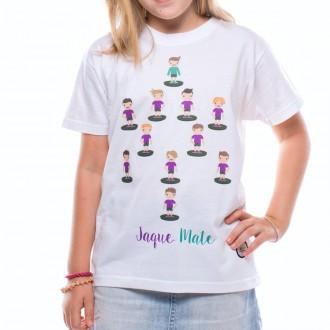 Camiseta  US360º Alineacion Niño Blanca