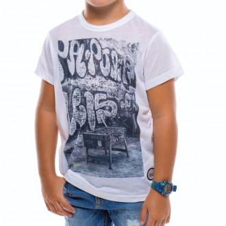 Camiseta  US360º Futbolin Retro Niño Blanca