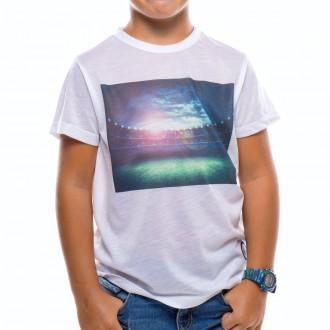 Camiseta  US360º Campo Futbol Niño Blanca