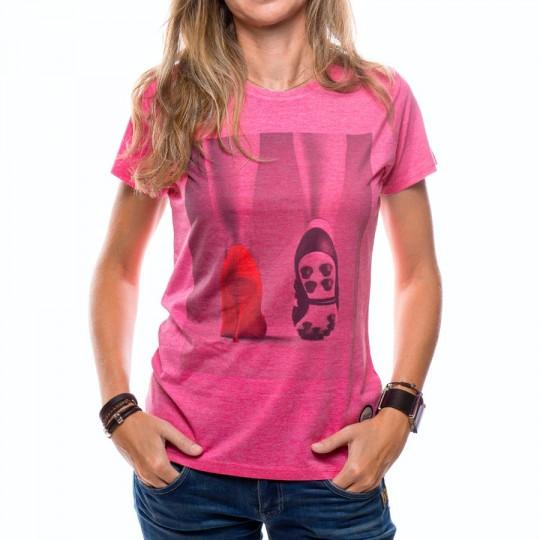 Camiseta  US360º Tacon Mujer Fucsia