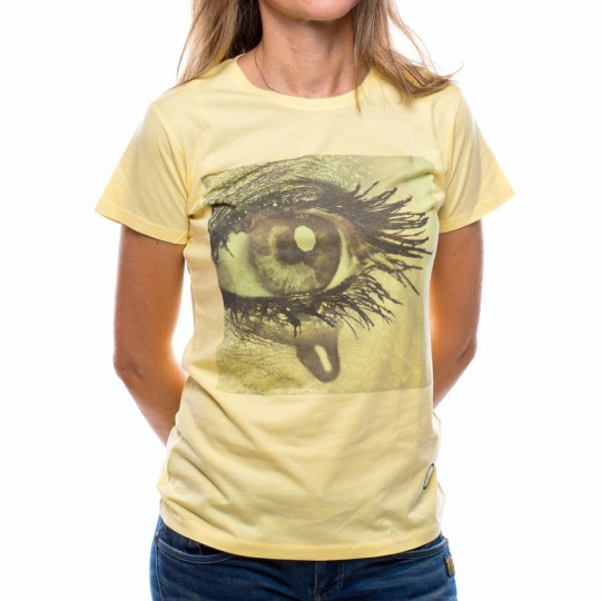 Camiseta  US360º Ojo Iniesta Mujer Amarilla