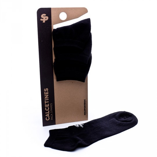 Pack  SP 3 Calcetines Invisible Negros