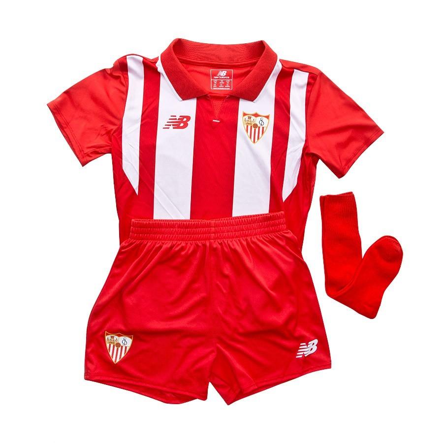 e4b5c1fe8 New Balance Sevilla FC Kit Infant Away 15-16 Kit. Red-White ...