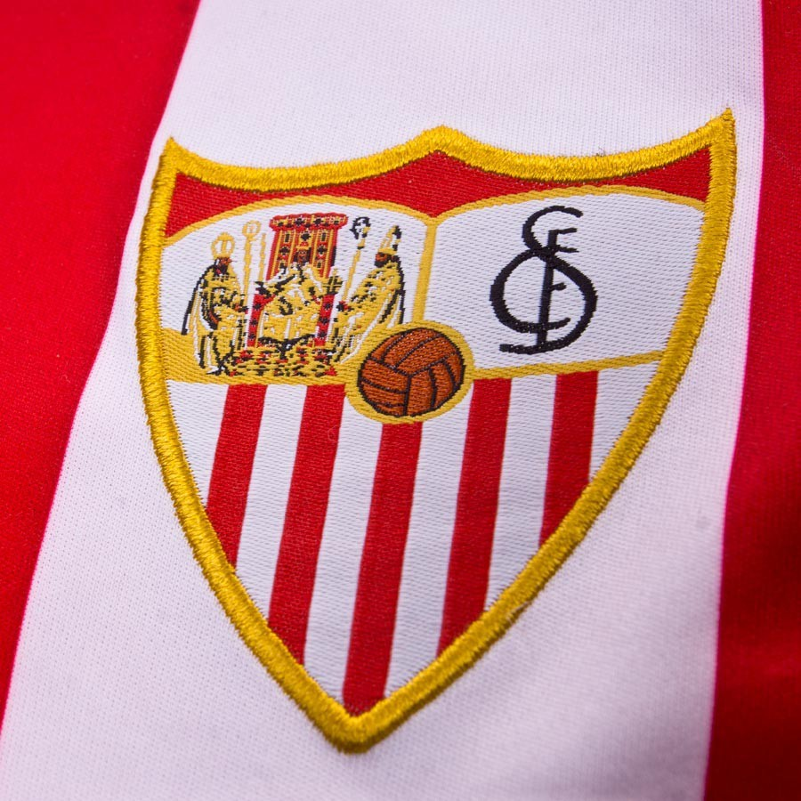 fb04fe74a Kit New Balance Jr Sevilla FC Away 15-16 Red-White - Football store Fútbol  Emotion