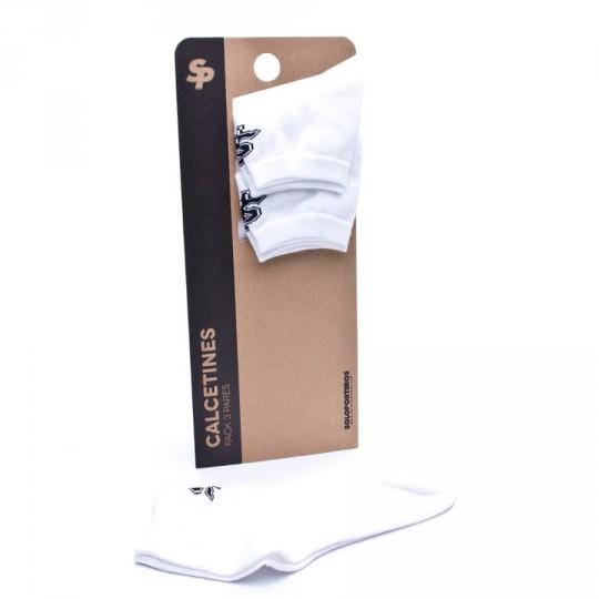 Pack  SP 3 Calcetines Tobilleros Blancos