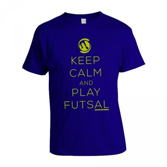 Camiseta  SP Keep Calm And Play Futsal Azul