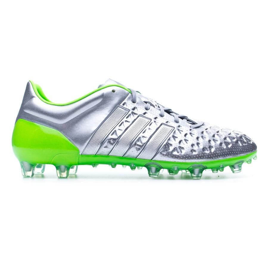 huge selection of aeeba ef96a Boot adidas Ace 15.1 FGAG Eskolaite Silver metallic-Solar green -  Soloporteros es ahora Fútbol Emotion