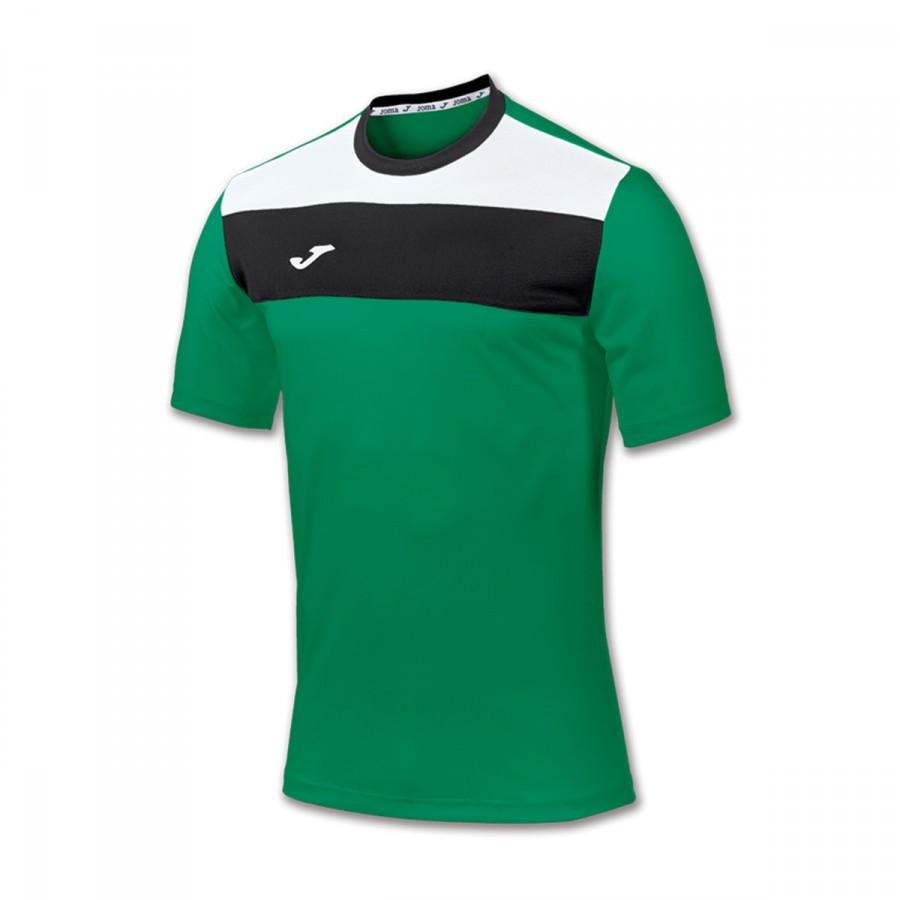 1b2e49956c64c Camiseta Joma Crew m c Verde-Blanca-Negra - Tienda de fútbol Fútbol Emotion