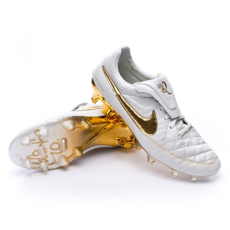 a7245b48e Football Boots Nike Tiempo Legend V Prem ACC FG White-Gold ...