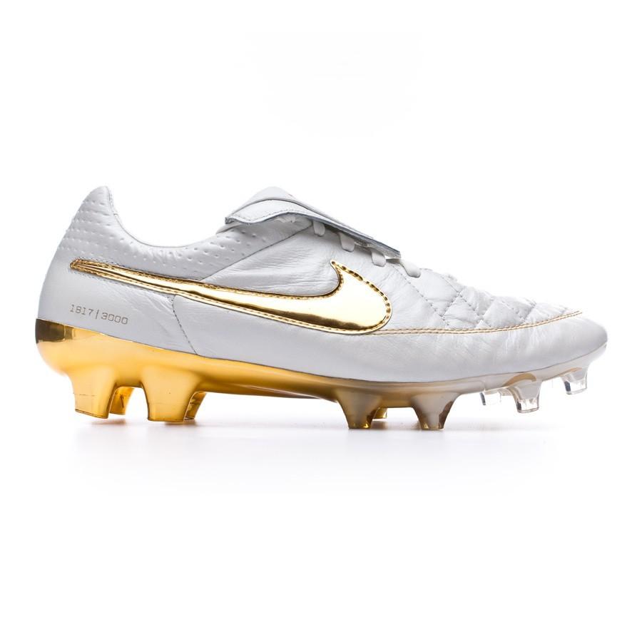 01fbfad93a6 Zapatos de fútbol Nike Tiempo Legend V Prem ACC FG White-Gold - Tienda de fútbol  Fútbol Emotion