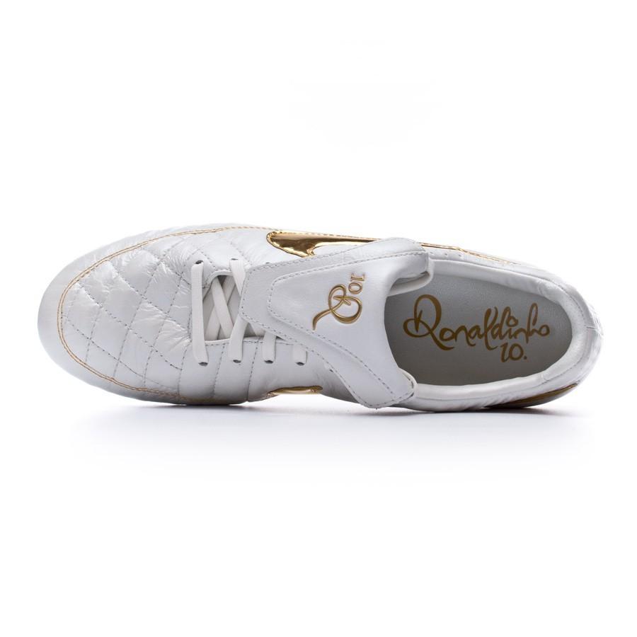 298021d65 Football Boots Nike Tiempo Legend V Prem ACC FG White-Gold - Football store  Fútbol Emotion