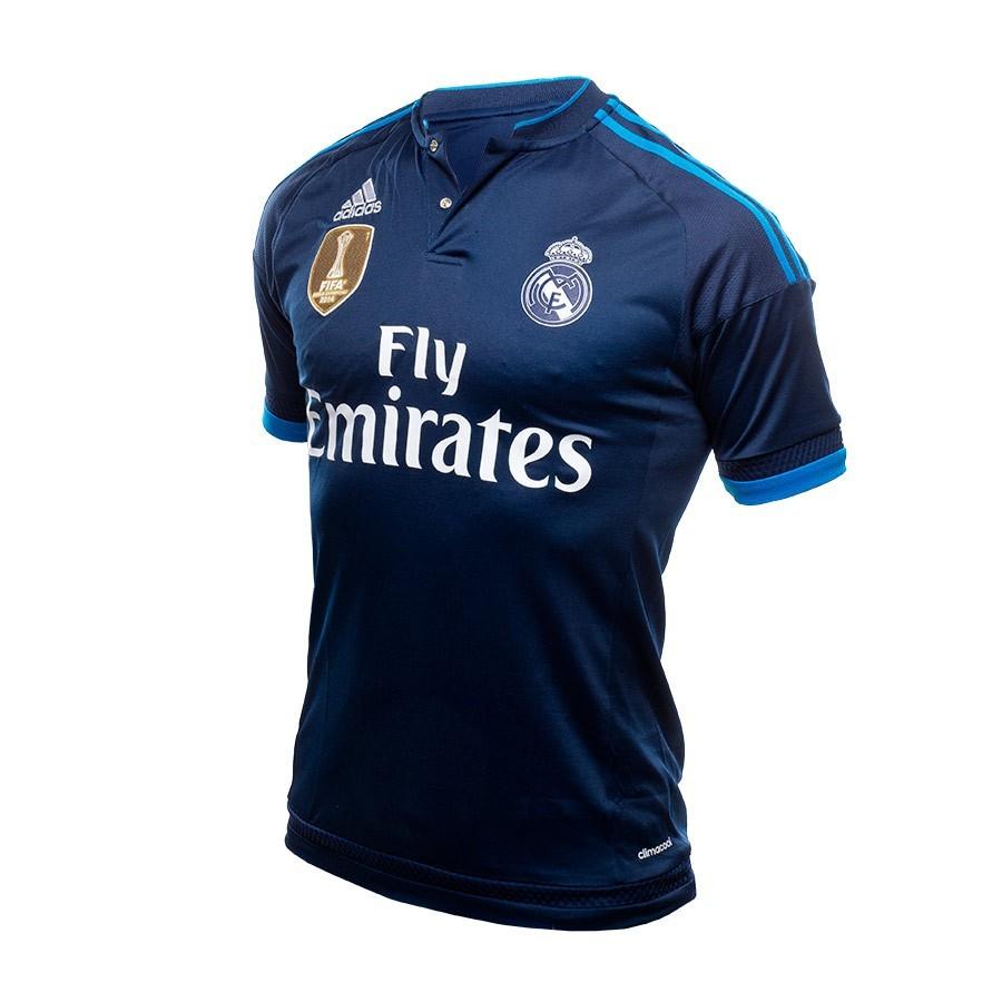 169589375d359 Jersey adidas Real Madrid 3ª 15-16 Night indigo-Bright blue - Tienda ...