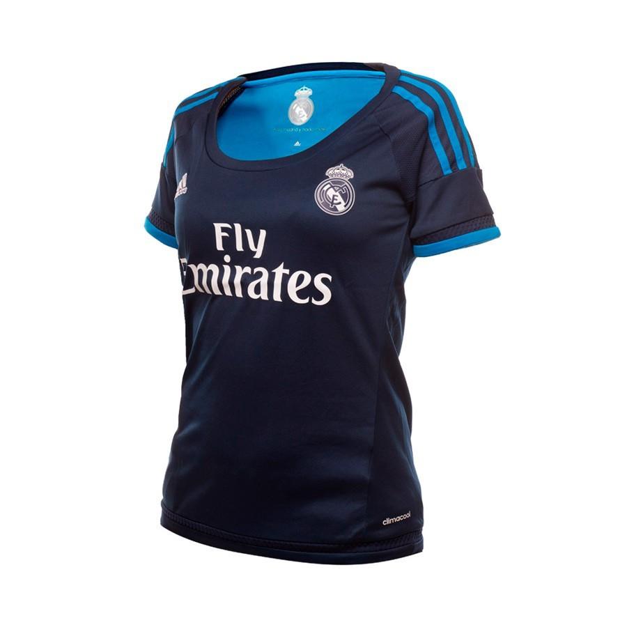 650d8e37fa Jersey adidas Real Madrid 3ª 15-16 Women Night indigo-Bright blue ...