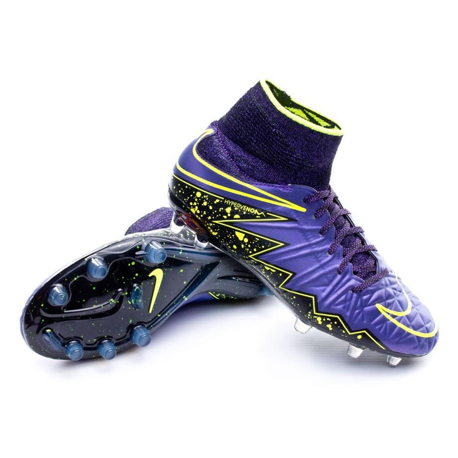 Scarpe Nike Jr HyperVenom Phantom II ACC FG Hyper grape-Black-Volt -  Negozio di calcio Fútbol Emotion 37a0cc314