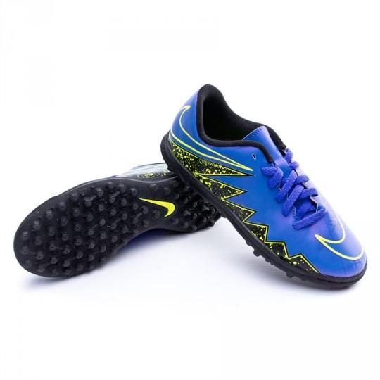 Chuteira  Nike Jr HyperVenom Phade II TF Hyper grape-Black-Volt